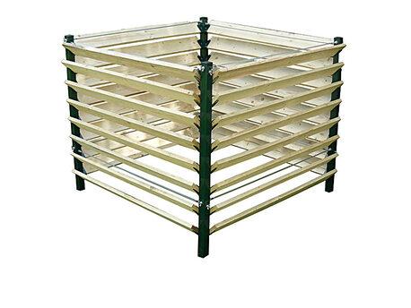 Kompostownik metalowo - drewniany 1300 litrów (1)
